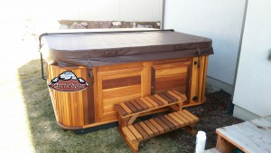 Bartel's new Hot Tub Alaskan in Platinum with a Red Cedar Cabinet