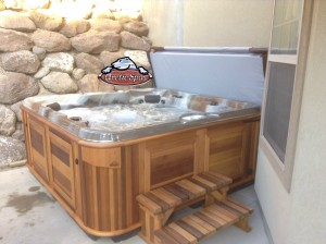 Boyack's Arctic Spa Norwegian in Mediterranean Sunset with a Cedar Cabinet