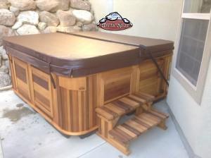 Boyack's new Arctic Spa Norwegian in Mediterranean Sunset with a Cedar Cabinet