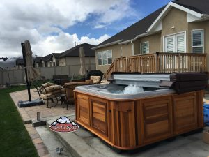 Bryant's family new Arctic Spa Norwegian with a Red Cedar Cabinet