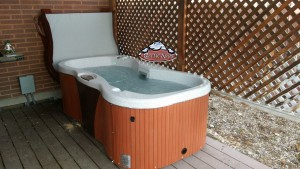 Budell's new Arctic Spas Coyote Mesa hot tub in Sahara Granite