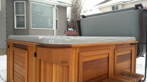 Bunting's new Arctic Spas Fox in Kalahari with a Red Cedar Cabinet