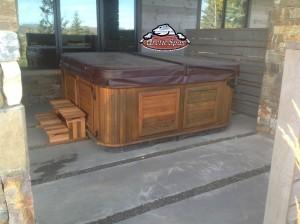 Chalker's Refurbished Summit in Dakota Granite with a Red Cedar Cabinet