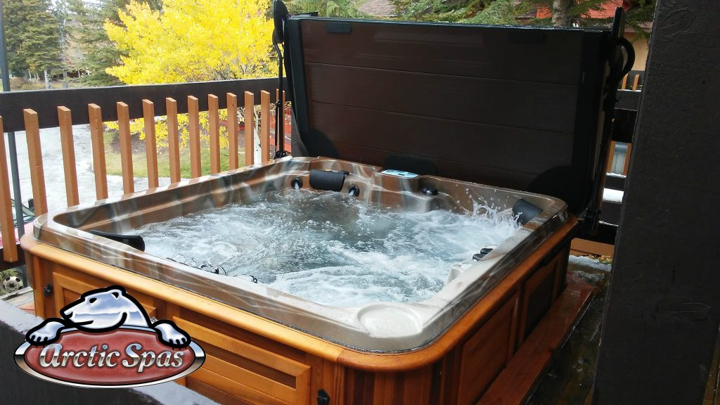 Collins Family new Arctic Spas hot tub Frontier