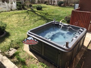 Firszt's Arctic Spas Frontier in Dakota Granite with a Charcoal Cabinet