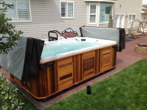 Heaton's new Arctic Ocean in Platinum with a Cedar Cabinet