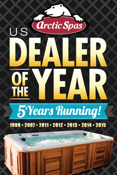 Arctic Spas US Dealer of the year, 5 years running