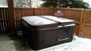 Manning's new Arctic Spas Summit in Platinum with in Sable Brown Composite Cabinet