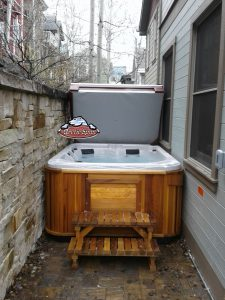 Moore's family new Arctic Spas Fox with a Red Cedar Cabinet