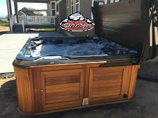 Temlyn's family new Arctic Spa Yukon with a cedar red cabinet
