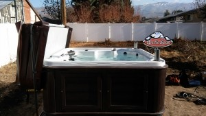Vowles's Arctic Spa Yukon in Platinum with a Sable Composite Cabinet
