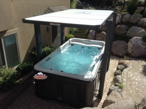 Webster's new Arctic Spas Wolverine with Covana Automatic top