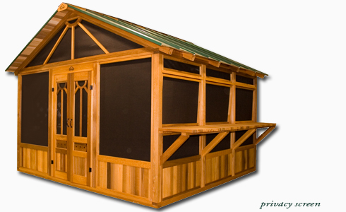 Hot tub gazebo habitat deluxe screen