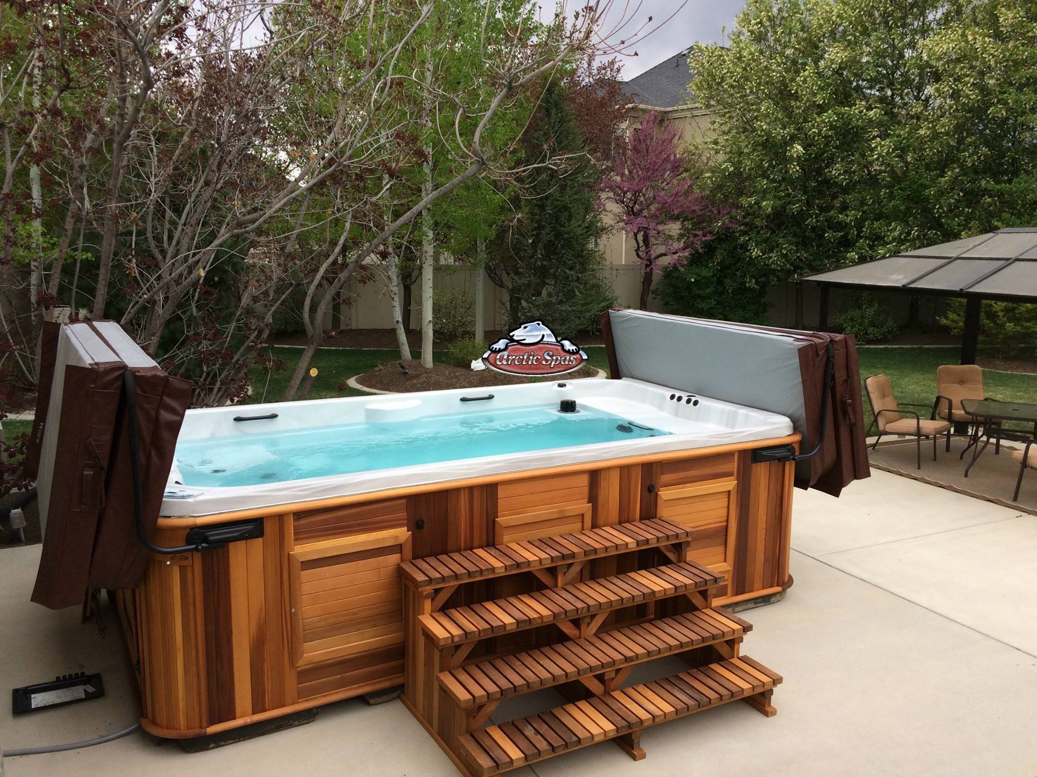 Arctic All Weather Pool in a backyard