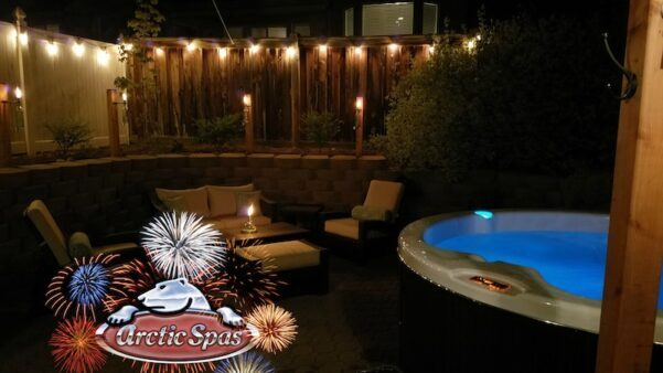 watch fireworks from your arctic spa!!