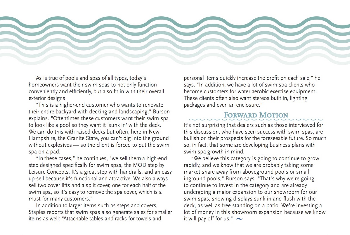 Swim Spa Currents Fourth page