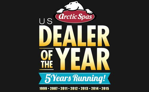 arctic spas us dealer of the year for the 5th year in a row