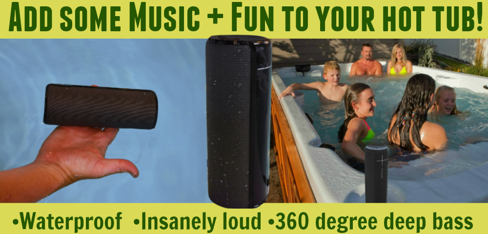 add some music and fun to your hot tub