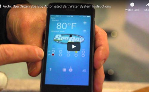 arctic spa onzen spa boy® automated salt water system instructions