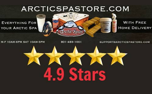 arctic spa store reviews 4.9/5 stars!